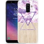 Galaxy A6 Plus 2018 hoesje Color Paint Wood Art