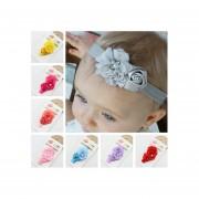8 Colores Cinta Elástica Cinta De Cabeza De Pelo Accesorios Apoyos De La Foto Dulce Rosa Flores Y Perla Decoración Para Infantil Bebés