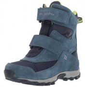 Columbia Unisex-Kid's Youth Parkers Peak Boot Snow, Collegiate Navy/Fission, 7 Wide US Big Kid