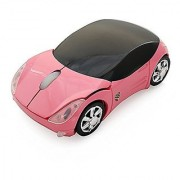 CHUYI 2.4ghz Wireless Ergonomic Design Sport Car Mouse Optical Mouse Mice for Computer Laptop Pink