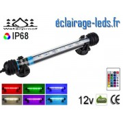 Tube LED RGB 1.5W Submersible 18cm Aquarium IP68 12V ref tla-06