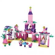 Toyshine ABS Plastic Princess Castle Palace Building Blocks Construction Toy (Multicolour, 3273) - Set of 346
