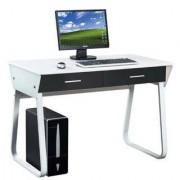 Hjh Mesa de ordenador MIRA, con dos cajones, 75,5x110x55cm