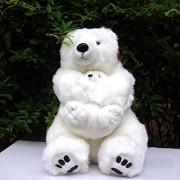 Mother And Baby Polar Bear Doll Simulation Bears Plush Toys