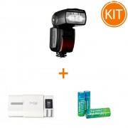 Kit Hahnel MODUS 600RT - Blit TTL pentru Nikon + Incarcator Unipal Plus + 4 acumulatori