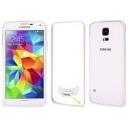 NTR MPSF01SI Alumínium védő keret (BUMPER) Samsung Galaxy S5 G900 mobiltelefonhoz - ezüst