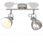 vidaXL Stropní svítidlo na 2 žárovky E14, šedá