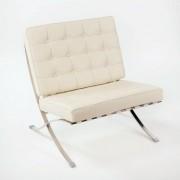 Fotoliu design lux alb off-white Ginette