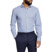 BOSS Plaid Slim Fit Dress Shirt NAVY