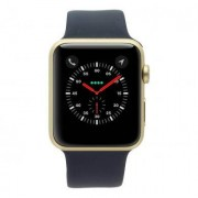 Apple Watch Series 1 carcasa de aluminiooro 42mm con con correa deportiva azul