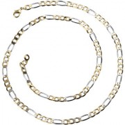 Silver Shine Ultra Classic Gold Silver Plated Figaro Link Chain Party Wear For Men And Boys Jewellry