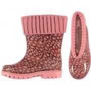 Merkloos Roze kinder regenlaarzen met voering