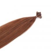 Rapunzel® Extensions Naturali Nail Hair Original Liscio 5.45 Dark Copper Brown 50 cm