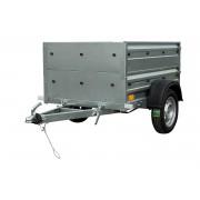 UNITRAILER Kleine aanhangwagen met opzetborden Garden Trailer 150