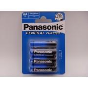 Panasonic R6 AA baterie zinc carbon General Purpose 1.5V blister 4