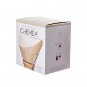 Chemex Хартиени Φилтри Кафеварка FSU-100 (Natural) Square