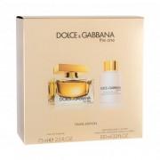 Dolce&Gabbana The One set cadou apa de parfum 75 ml + lotiune de corp 100 ml pentru femei