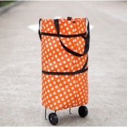 High Quality Stylish Foldable Trolley Wheel Bag Shopping Grocery Cart Folding Home Rolling Handbag 2 in 1 Multi Color