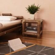vidaXL sötétbarna bambusz éjjeliszekrény 40 x 40 x 40 cm