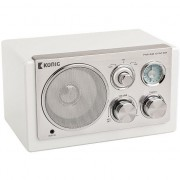Radio cu ceas konig TR1200 VHA-alb