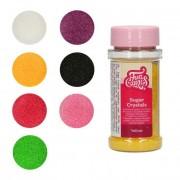 Cake Supplies Sprinkles de cristales azúcar de colores de 80 g - FunCakes - Color Rosa