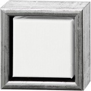 Creativ Company ArtistLine Canvas med ram, utv. mått 14x14 cm, djup 3 cm, 6 st., vit