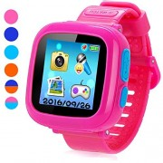 "Game Smart Watch for Kids, Children's Camera 1.5 ""Touch Screen Pedometer 10 Games Timer Alarm Clock Health Monitor Boys Girls Game Watches(Pink) by YNCTE"