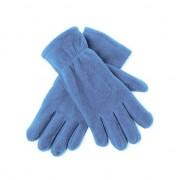 Merkloos Lichtblauwe fleece handschoenen