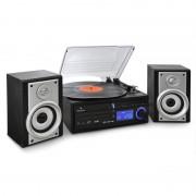 Auna DS-2 Equipamento de Áudio Gira-Discos CD MP3 USB SD AUX-In AM/FM