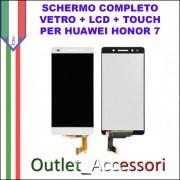 Display Schermo Completo Huawei HONOR 7 LCD TOUCH PLK-CL00, PLK-UL00, PLK-TL00, PLK-TL01H, PLK-L01 Bianco