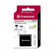CARD READER, Transcend OTG, USB2.0, SD, microSD, USB Card Reader, ANDROID, Black (TS-RDP9K)