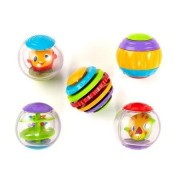 Bright Starts Shake & Spin Activity Balls, Set Of 5 Each Ball Features A Unique Activity