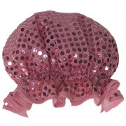Shower Cap - Sparkly pale pink