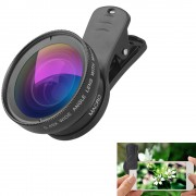 APEXEL 0.45x Universal Super Wide Angle 12.5x Macro SLR Effect External Camera Phone Lens