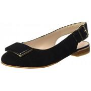 Clarks Women's Festival Fizz Sde Black Leather Fashion Sandals - 7 UK/India (41 EU)