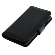 Capa de Pele com Cobertura Tipo Livro para iPhone 6 / 6S - Preto