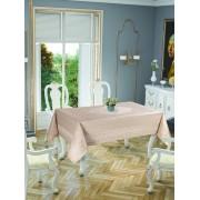 Față de masă Valentini Bianco, Model Gold Etamin, 150x220 cm, culoare Bej