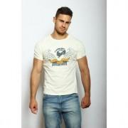 Epatage Облегающая мужская футболка с принтом бежевого цвета Epatag RT050588m-EP