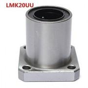 2pcs LMK20UU 20mm Rod Linear Ball Bearing for 3D Printer/CNC/Robotic/DIY Project