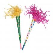 Merkloos Gekleurde feest toeters 35 cm