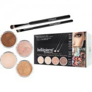 Bellápierre Cosmetics Make-up Sets Get the Look Kit Pretty Woman: Shimmer Powder Champagne 2,35 g + Shimmer Powder Earth 2,35 g+ Shimmer Powder Cocoa 2,35 g + Mineral Makeup Base 8,5 g + Liner Brush + Oval Eyeshadow Brush 1 Stk.
