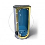 Буферен съд за битова топла вода Емайлиран стоманен водосъдържател Високоефективна изолация от мек пенополиуретан 100 mm Анодна защита Външен термоиндикатор Предпазен клапан 3 Термопокета за термосензор 1+1 Вход/Изход Вход за рециркулация Достъп до водосъ