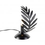 QAZQA Lampa stołowa vintage mała czarna - Botanica
