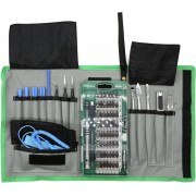 DELTACO VK-53 Gereedschap set voor smartphone reparatie, 75-delig, Precision CRV, groen