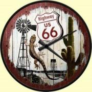 Ceas de perete - Route 66 US Highway - Ø31 cm