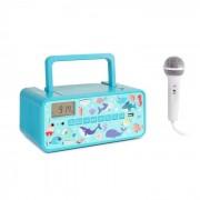 Auna Kidsbox Underwater CD Boombox CD-Player BT UKW USB LED-Display türkis