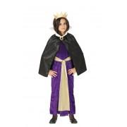 Guirca Disfraz de reina malvada de cuento para niña - Talla 5 a 6 años