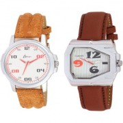 KDS Brand Smart Look Leather Watch 2 - 11 for Men combo watches Watch - For Men