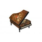 Böhme Musikspieluhren Großer Spieluhr Holz-Flügel mit Intarsienarbeit/Motiv, Melodie wählbar (Spieldose, Musikdose, Instrument)
