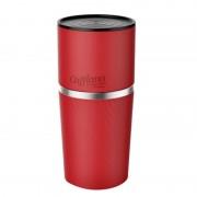 Cafflano Klasszikus piros kettő az egyben kávédaráló és kávéfőző